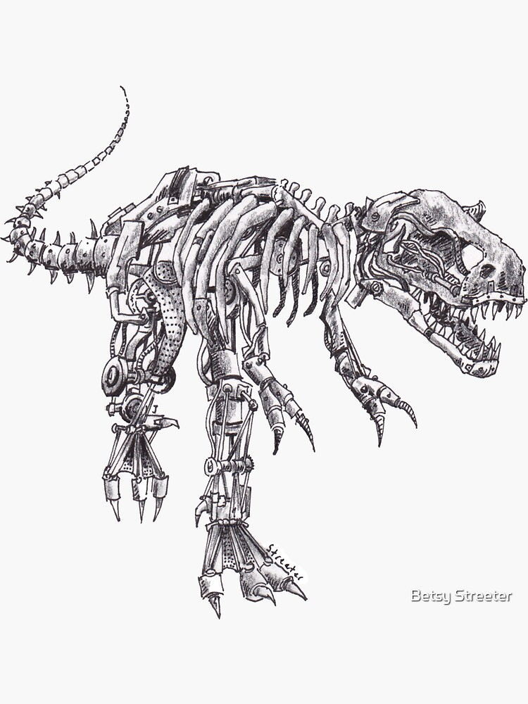 Steampunk T-Rex by betsystreeter