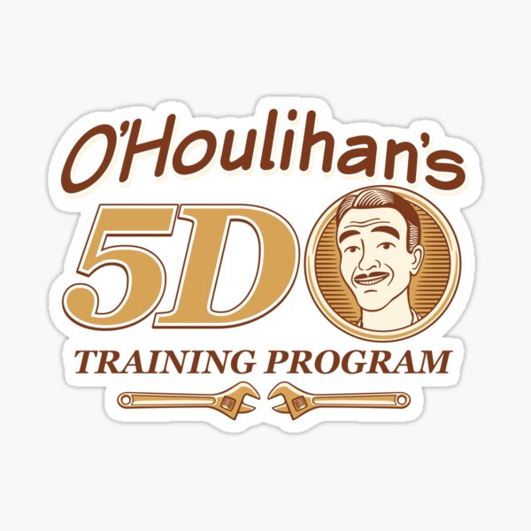 O'Houlihan's 5D Training Program - Dark Sticker