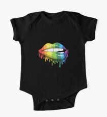 Rainbow LGBT Kussmund Baby Body Kurzarm