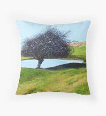 Downland Dew Pond  Throw Pillow