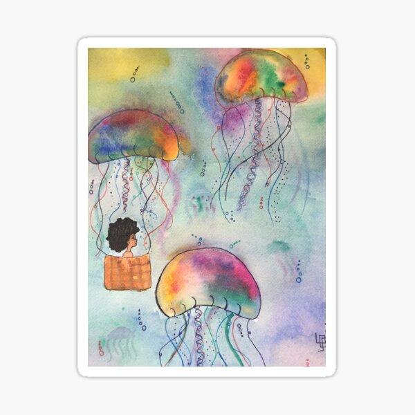 Jellyfish Flight Sticker