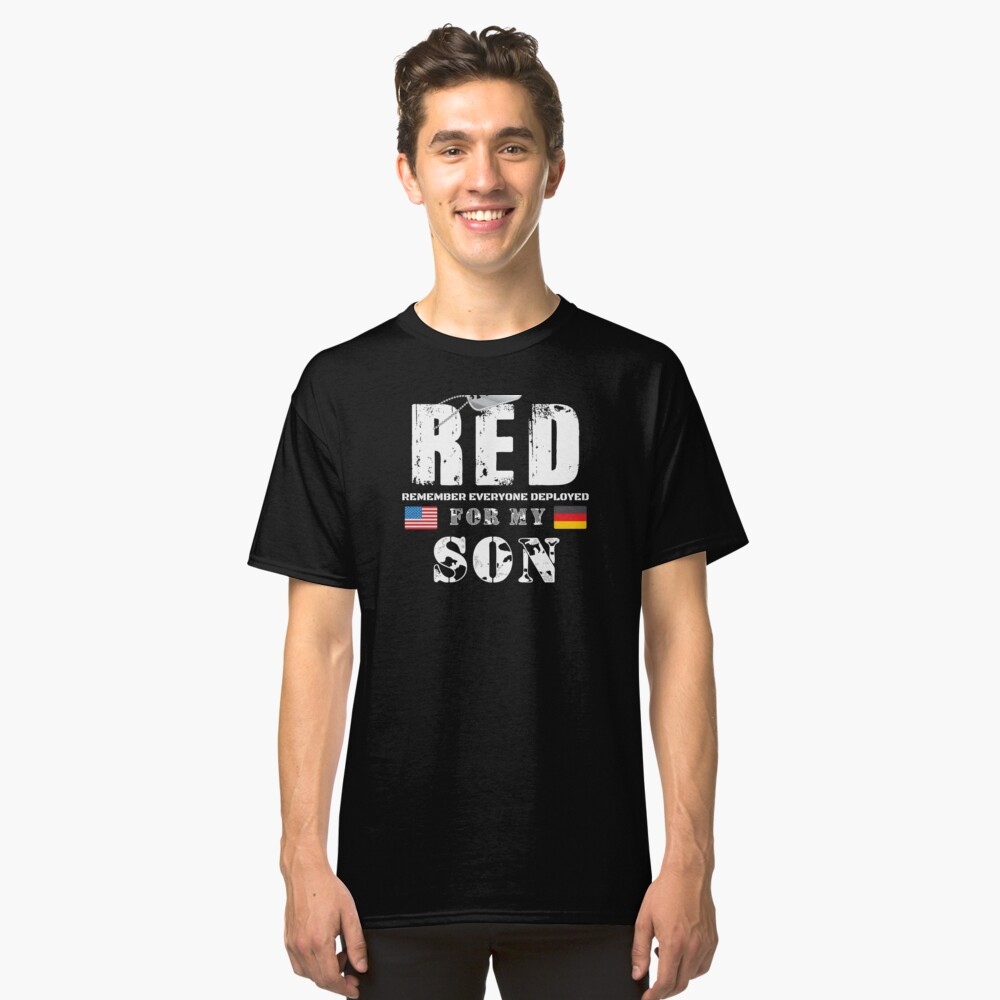 Wear RED Fridays Military Shirt Proud Son Deployed in Germany Classic T-Shirt