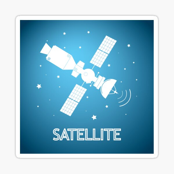 Satelite Sticker