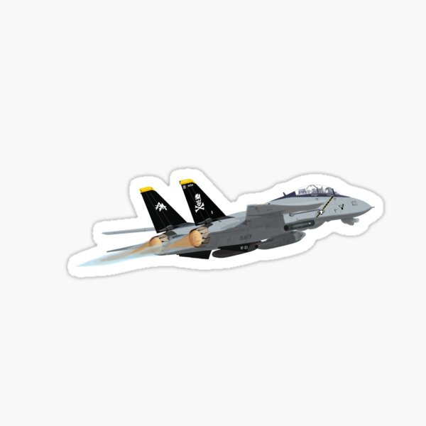 Afterburners on! 'Jolly Rogers' F14 Tomcat. Sticker