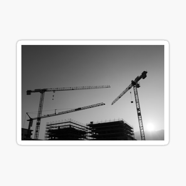 Construction cranes Sticker