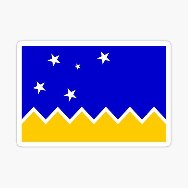 Bandera del Territorio Antártico Chileno Pegatina