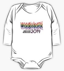 Most Anticipated Event of the Year - Woodstock 50 years 1969-2019  Rainbow Long Sleeve Baby One-Piece