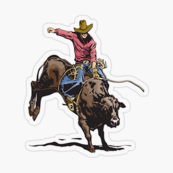 Cowboy Rodeo  Transparent Sticker