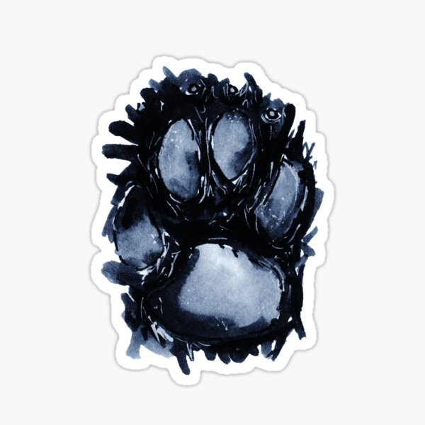 Scottie Paw Sticker