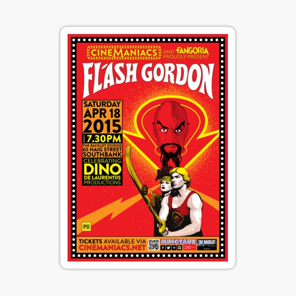 Cinemaniacs - Flash Gordon Sticker