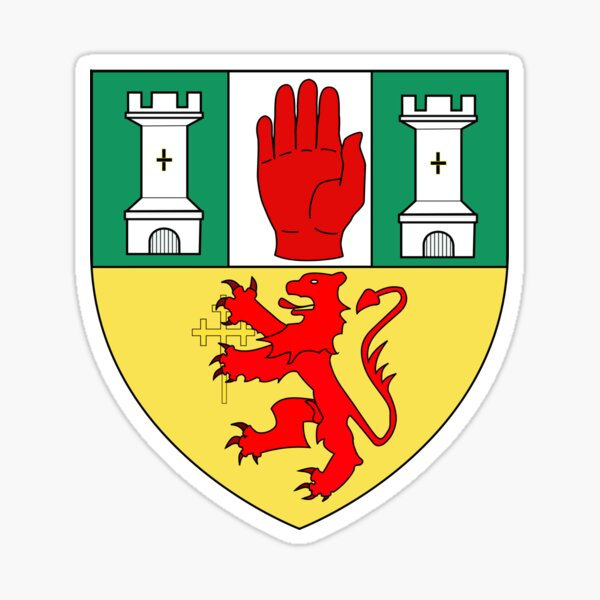 County Antrim Coat of Arms  Sticker
