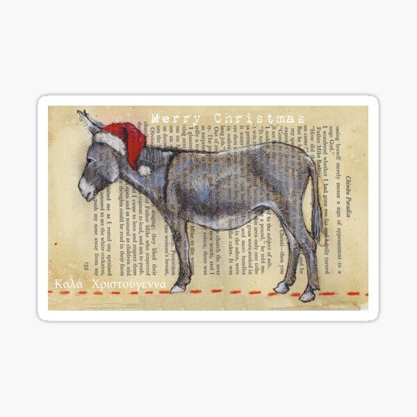 Donkey Christmas card Sticker