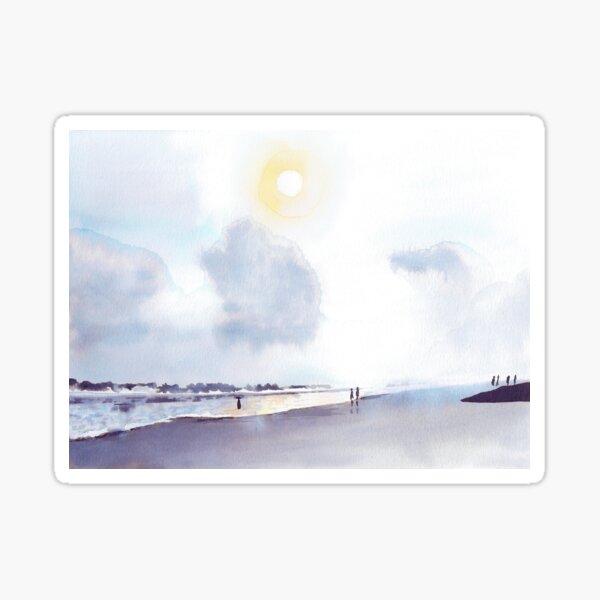 Dimanche à la plage Sticker