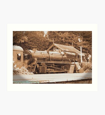 Steam past and present  Art Print
