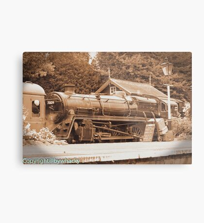 Steam past and present  Metal Print