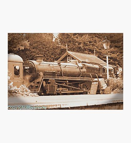 Steam past and present  Photographic Print