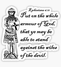 EPHESIANS 6:11  ARMOUR OF GOD Sticker