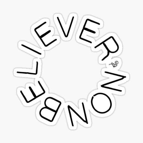 Nonbeliever circle Sticker