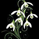 Schneeglöckchen Frühling Blumen Spring Flowers von Christine Krahl