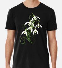 Schneeglöckchen Frühling Blumen Spring Flowers Männer Premium T-Shirts