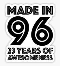 23rd Birthday Gift Adult Age 23 Year Old Men Women Daughter Son Sticker