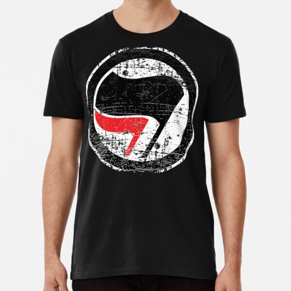 Antifa Red and Black Flag  Premium T-Shirt