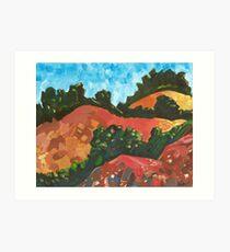 Red Dorset Landscape Art Print