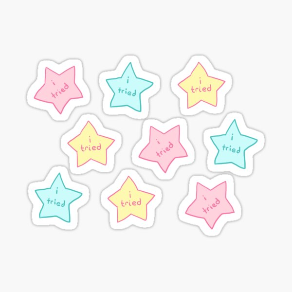 "Spoonie Achievement:  ""i tried"" stars Sticker"