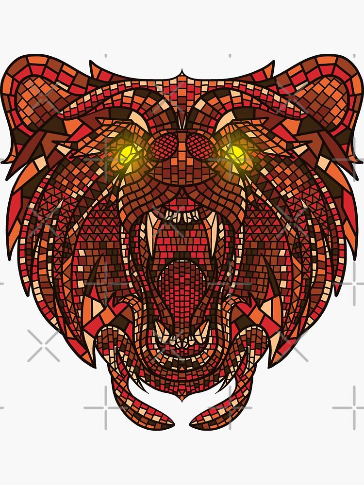 Bear Mosaic by GODZILLARGE
