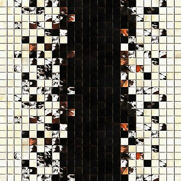 Square Tiles Ceramic Mosaic Pattern Sienna Accent by taiche