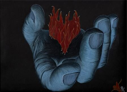 my burning heart, your cold hands by Stacy McCabe