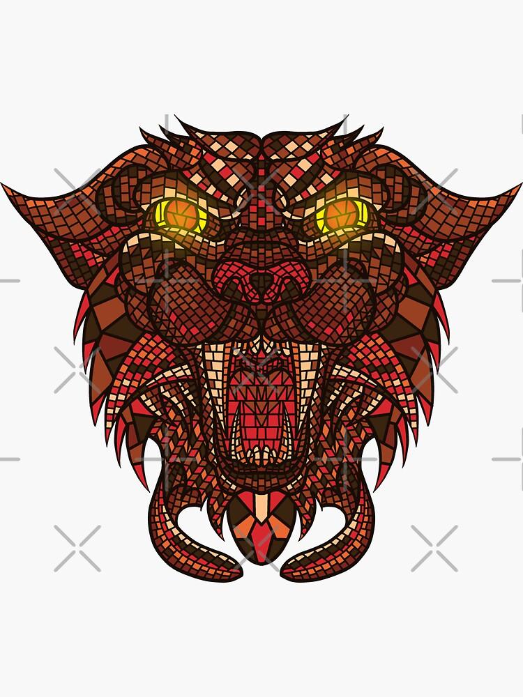 Panther Mosaic by GODZILLARGE