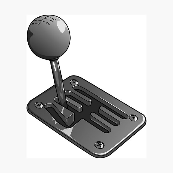 MANUAL GEARBOX GATED SHIFTER Photographic Print