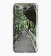 Rock overhang at Mill Creek Park iPhone Case/Skin