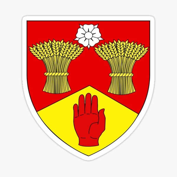 County Londonderry Coat of Arms  Sticker
