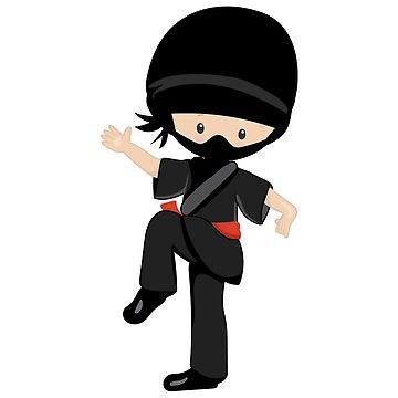 Ninja little boy character by wellnessSisters
