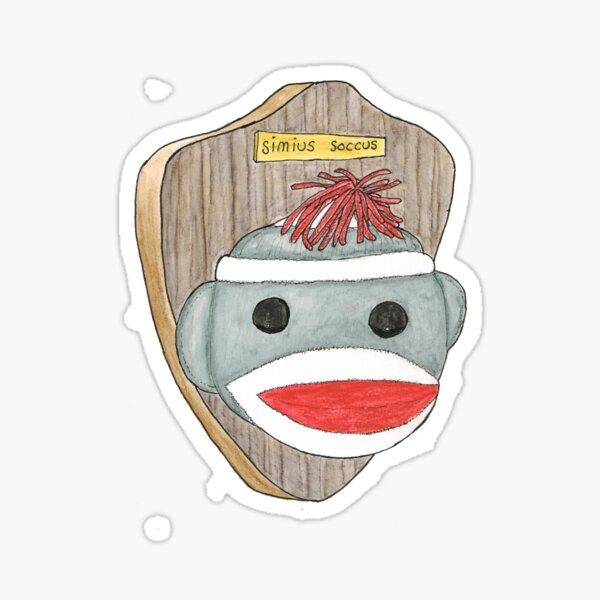 Sock Monkey Trophy Sticker