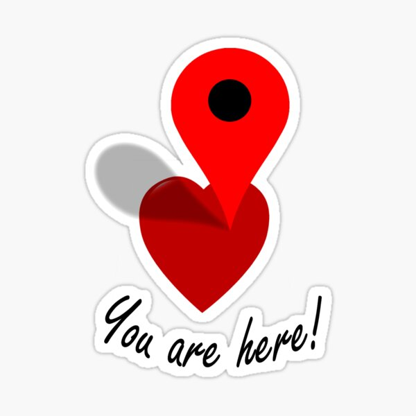 You Are Here! Sticker