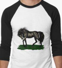 Ebony .. black stallion Men's Baseball ¾ T-Shirt