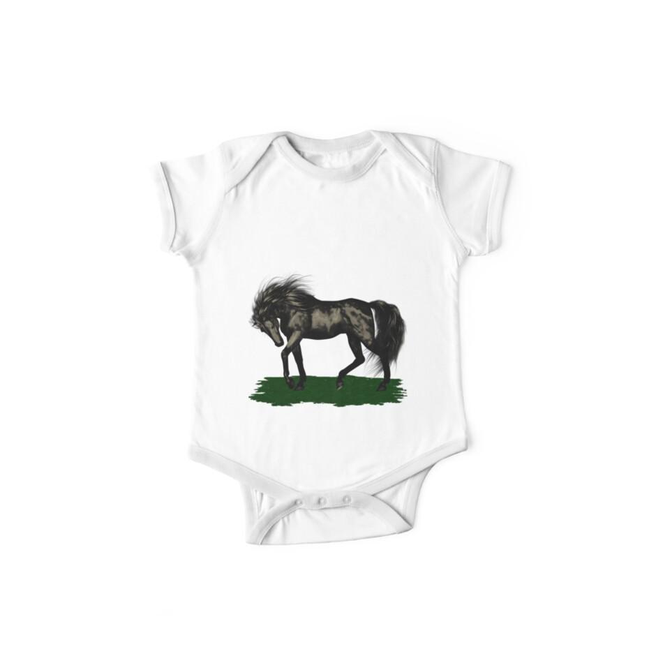 Ebony .. black stallion by LoneAngel