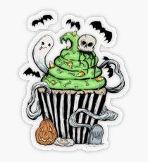 Gotischer Cupcake Transparenter Sticker