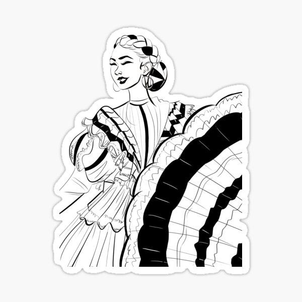 Ballet Folklorico Senorita Sticker