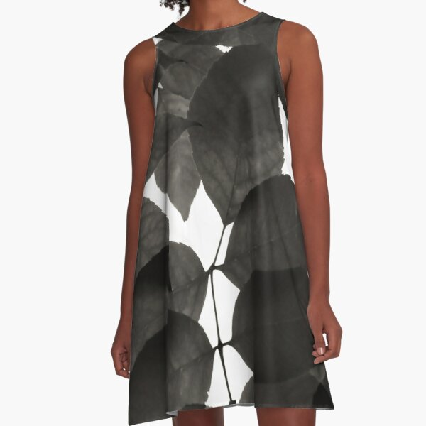 Black and White Natural Patterns A-Line Dress