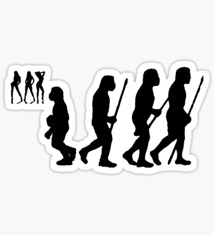 evolution of youth Sticker