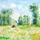 Monet-Kunstfrühling in Giverny-Malerei von ColorandColor