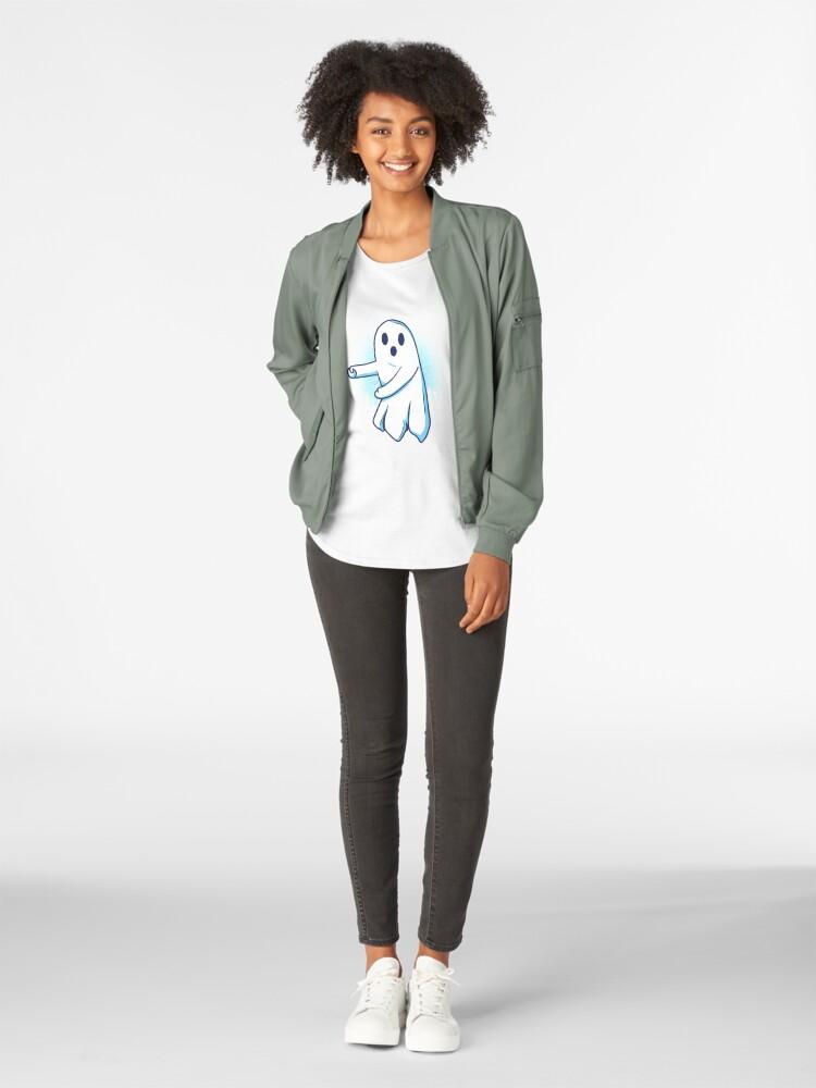 Alternative Ansicht von Ghost floss Halloween gift Premium Rundhals-Shirt