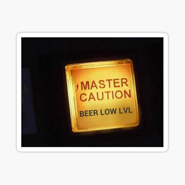 Beer Low Level Caution Light Sticker