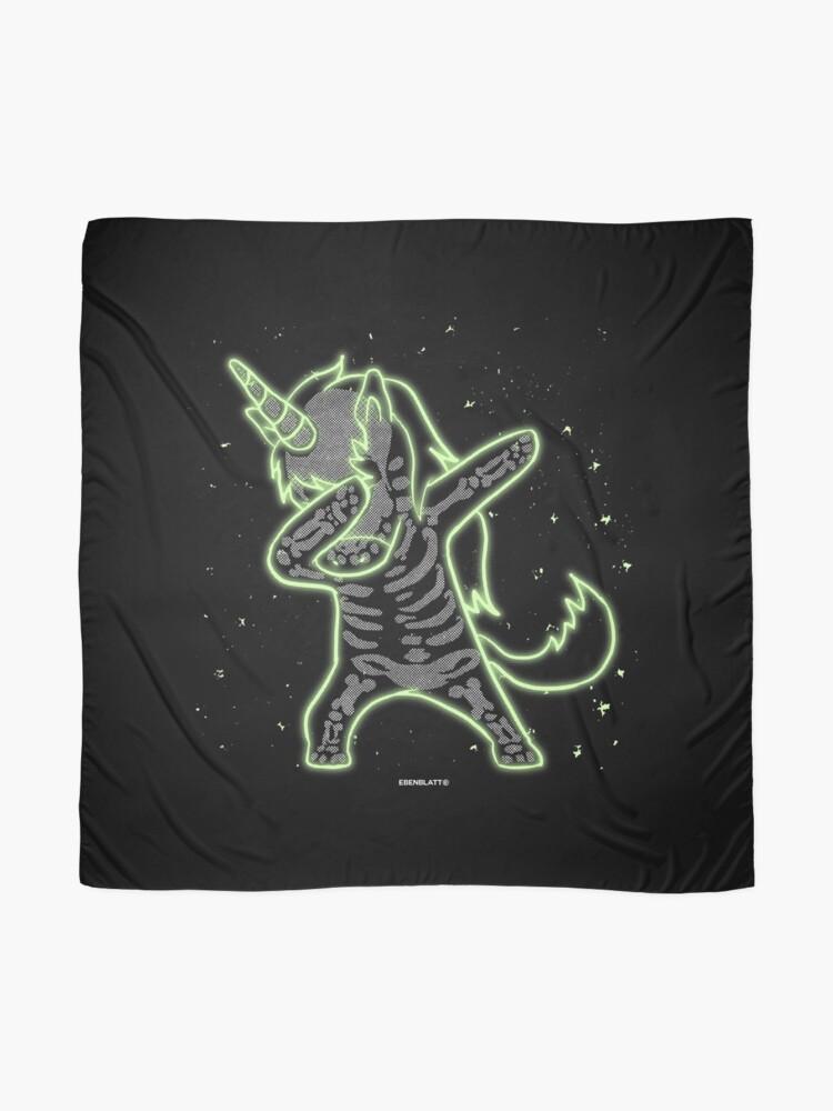 Alternative Ansicht von Xray dabbing unicorn Halloween gift Tuch