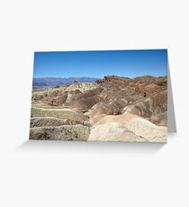 Zabriskie Point, Death Valley, USA Greeting Card