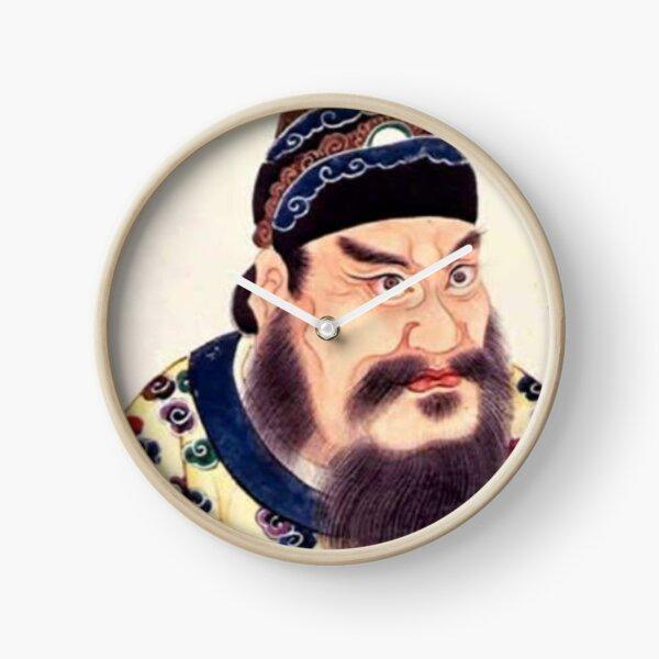 Emperor of China #portrait, #lid, #people, #adult, veil, beard, mustache, cap, one, illustration Clock